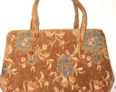 Beautiful JANA Vintage Tapestry Handbag Purse Excellent Condition Gold Tones