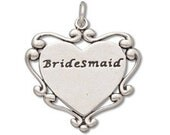 Sterling Silver Bridesmaid Charm ( sku 7452 - CHSS-FAMILY-M)