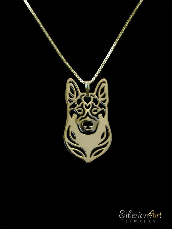 German Shepherd dog jewelry - Gold