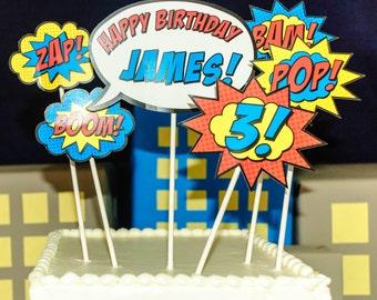 Superhero Cake Topper • PRINTED