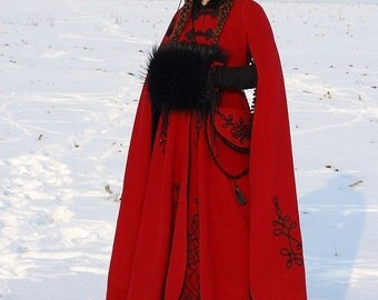 """20% DISCOUNT! Medieval Fantasy Winter Coat """"Queen of Shamakhan"""""""