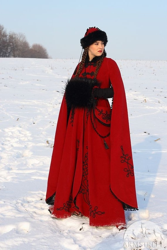 "Medieval Fantasy Winter Coat ""Queen of Shamakhan"""
