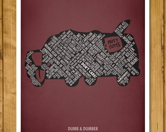 "Funny Quotes from Dumb and Dumber - Movie Quotes Poster (11 x 17"" or A3 - 420x297mm)"