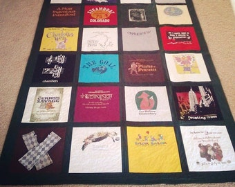 Custom-Made T Shirt Memory Quilt
