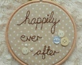 Happily Ever After Embroidery Hoop Wall Art 4""
