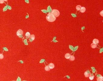 Berries on Red by Ayako Kugimaru for  Daiwabo