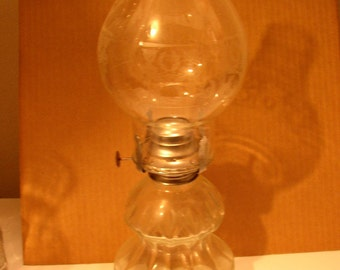 Beautiful Antique Colonial Oil Lamp