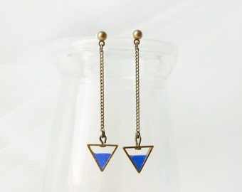 Triangle Earring -Blueberry
