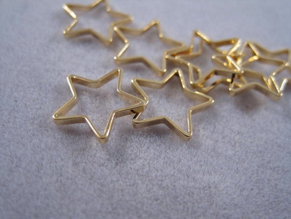 Star charm gold ring small shape