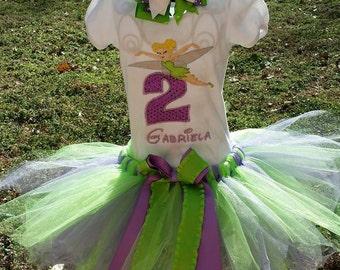 Tinkerbell Birthday Tutu Set - Birthday #1-8 available!