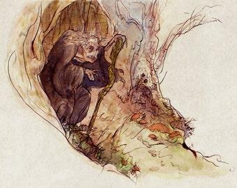 The Bramble-Witch: Art Print
