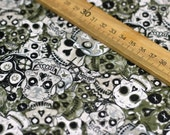 0.5m  Skull  Cotton Fabric