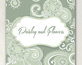 ETSY SHOP BANNERS Paisley Banner Set