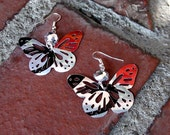 Recycled Diet Coke Butterfly Earrings