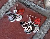 Recycled Diet Coke Butterfly Earrings