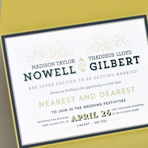Modern Wedding Invitation Elegant Wedding Invitation By SuitePaper