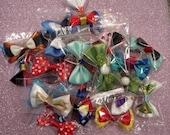 Any 5 Mini Hair Bows Disney Inspired
