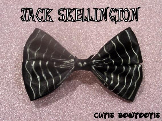 Jack Skellington Hair Bow Nightmare Before Christmas Inspired