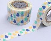 Rain Drops by Shinzi Katoh Washi Tape, Paper Craft Tape, Japanese Washi Paper Tape, Chugoku, Strawberry, Paper Craft