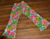 vintage 60s 70s PSYCHADELIC twiggy neon hippie BELLBOTTOMS PANTS m