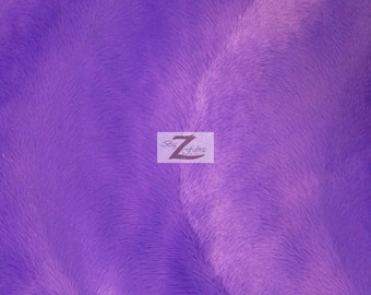 "Wavy Velboa Faux Fur Fabric - Purple - Sold By The Yard  - 58""/60"" Width"