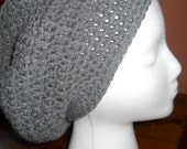 SLOUCHY BEANIE  Dark Gray Very Soft Stylish Winter Hat