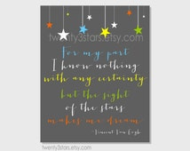 Vincent Van Gogh Sight of the Stars quote Canvas or Art print, Choose Your Colors, Minimalist Nursery Wall Art Unframed, Van Gogh Canvas Art