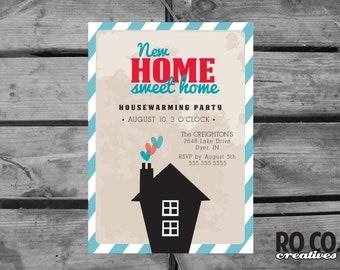 Home Sweet Home Moving Announcement/House Warming Party Invitation