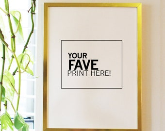 popular items for thin gold frame on etsy