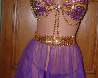 vintage 70's Frederick's of Hollywood burlesque belly dancer outfit