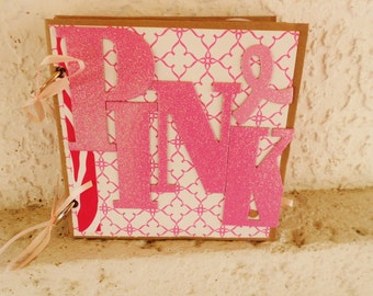 SALE Breast Cancer Survivor Mini Paper Bag Scrapbook Album