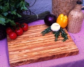 Modern and massive olive wood server tray - modern look