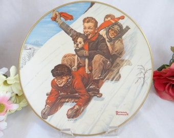 1975 Royal Devon Norman Rockwell Limited Edition Christmas Collector Plate