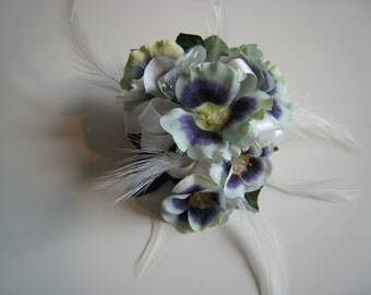 Primula Flower Corsage, Wedding, prom or Event.