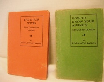 1928 pamphlett set, Facts for Wives and Know Your Affinity