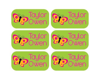 100 - Personalized Clothing Tag Labels, Daycare Clothing Labels, Camp Clothing Labels
