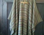 Hand Woven Welsh Wool Poncho