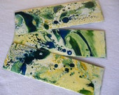 Colorful Green bookmarks Marbled bookmarks Green marbled markers Green marbled bookmarks Green markers set of 3 FREE SHIPPING