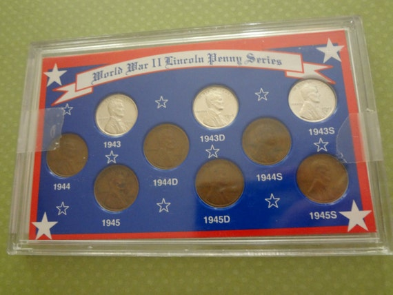 World War Ii Lincoln Penny Series Coin Collection Steel Cents