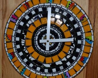 Bumble Bee Mosaic Clock