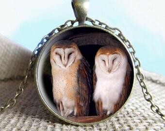 OWL Pendant/Necklace Jewelry, Owl Necklace Jewelry, Owl Photo Jewelry Glass Pendant Gift