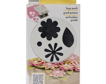 FLOWERS & LEAVES Paper Shapers Punch Large Slim by EK Success
