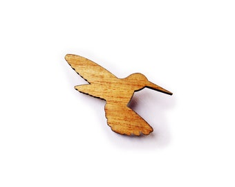 Hummingbird wood Brooch from Tallowwood