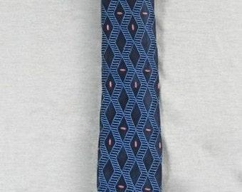 1940/50s  Blue Rayon Superba Necktie