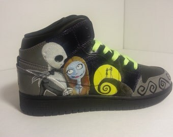 Nightmare Before Christmas Custom Painted Shoes