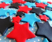 40 Fondant stars for cupcakes and/or cake decorations -  Birthday Party/Baby shower, fondant star, edible star,star cupcake,star cake topper