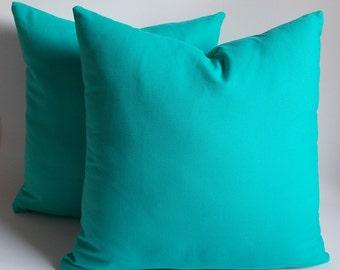 set of 2 turquoise pillowdecorative pillow coverthrow pillowpillow cover - Turquoise Decorative Pillows