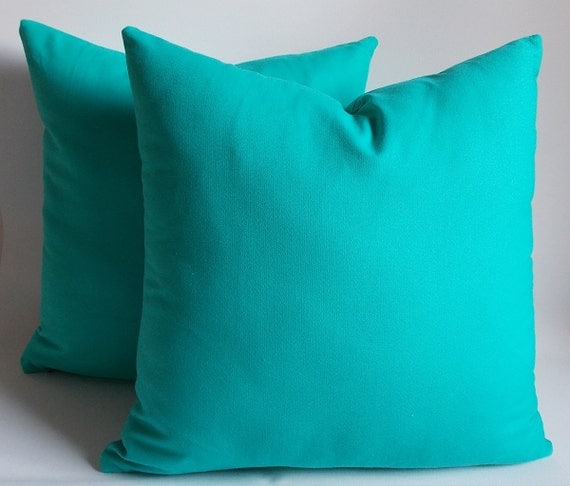 Set of 2 turquoise pillowdecorative pillow coverthrow for Turquoise couch pillows