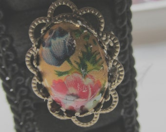 Hand Painted Filigree Ring