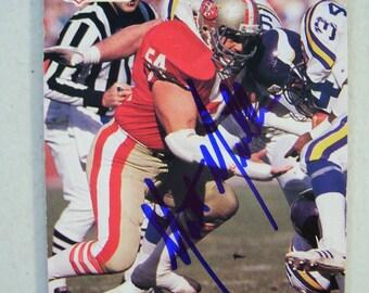 1990 Matt Millen San Francisco 49ERs Autographed Football Card, 640 Pro Set, Vintage Card